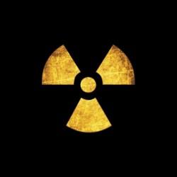 Nuclear symbol black...