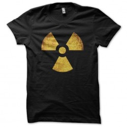 Nuclear symbol black sublimation grungy tee shirt