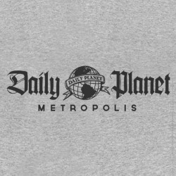 Daily planet gray sublimation t-shirt
