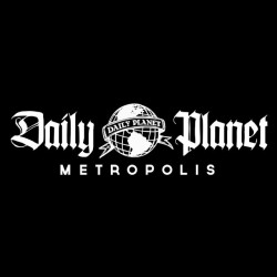 Daily planet black sublimation t-shirt