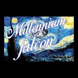 tee shirt starry night millennium falcon black sublimation