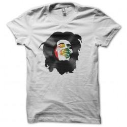 bob marley t-shirt in vinyl white sublimation