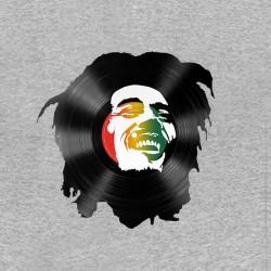 bob marley t-shirt in gray vinyl sublimation
