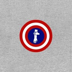 t-shirt captain quenelles parody captain america gray sublimation