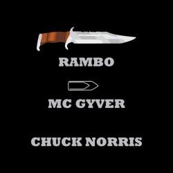 chuck norris tee shirt vs rambo black sublimation