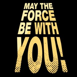 Tee Shirt SW May the force be with you BLACK sublimation