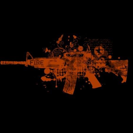 T-shirt GUN02 black sublimation