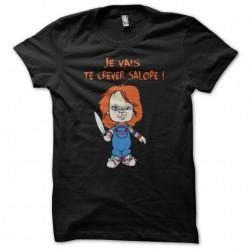 t-shirt chucky the doll phrases cult black sublimation