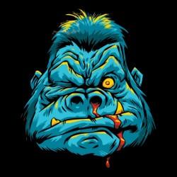 tee shirt Mad monkey  sublimation