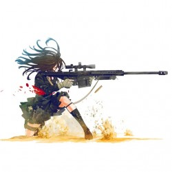 T-shirt sniper girl white...