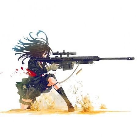 T-shirt sniper girl white sublimation