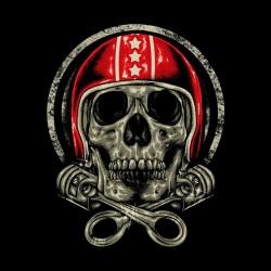 Skater skull black sublimation tee shirt