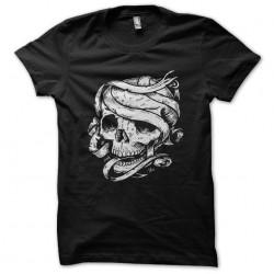 tee shirt skull mummy black...