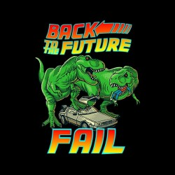 t-shirt back to the future black sublimation