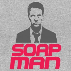 tee shirt soap man fight club gray sublimation