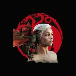 Targaryen daenerys t-shirt Game of thrones black sublimation