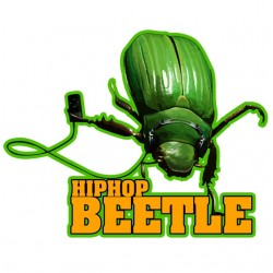 hiphop beetle t-shirt white...