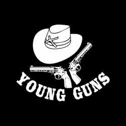 tee shirt young guns black sublimation