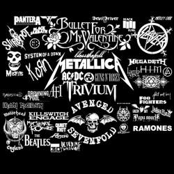 metal rock band t-shirt black sublimation