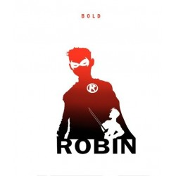 T-shirt robin ombre white...
