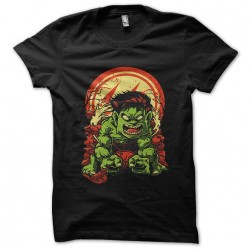 tee shirt The Hulk black...