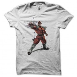 Mr. Bison Streetfighter white sublimation t-shirt