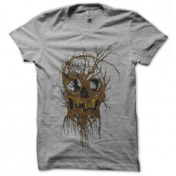tee shirt TREESKULL gray...