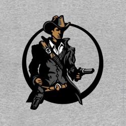 tee shirt cowboy gris sublimation