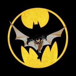 Batman on the Moon t-shirt black sublimation