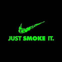 tee shirt just smoke it parody black sublimation
