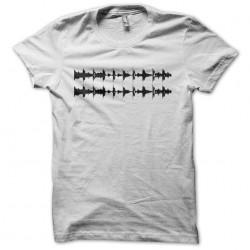 Techno Onde Sound sublimation white T-shirt