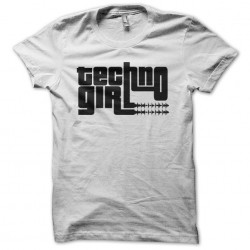 Techno Girl white sublimation t-shirt