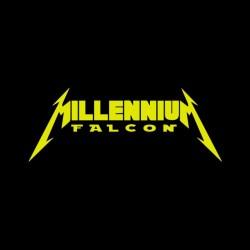 tee shirt millenium falcon parodie metallica  sublimation