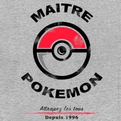 tee shirt Maitre pokemon gray sublimation