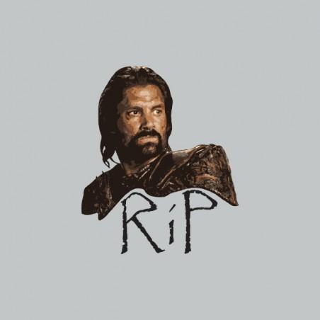 T-shirt Spartacus RIP Crixus gray sublimation