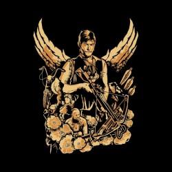 daryl t-shirt walking dead dead black sublimation