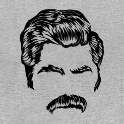tee shirt patron des moustaches gris sublimation