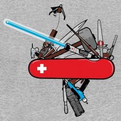 tee shirt couteau suisse de geek gris sublimation