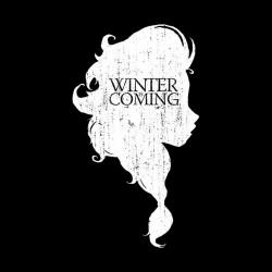 tee shirt khaleesi winter is coming black sublimation
