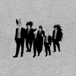 t-shirt DBZ characters villains parody reservoir dogs gray sublimation