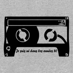 tee shirt cassette années 80 gris sublimation