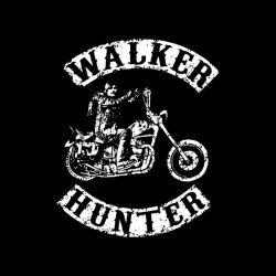 tee shirt daryl dixon the walker hunter parody Son of anarchy white on black sublimation