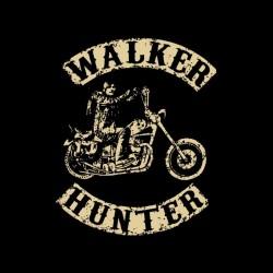 tee shirt Daryl Dixon the walker hunter parody SOA creme on black sublimation