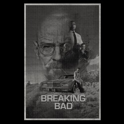 tee shirt breaking bad affiche  sublimation