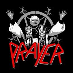 t-shirt the pape prayer black sublimation