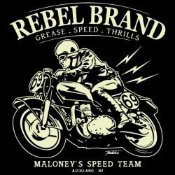t-shirt Rebel brand black sublimation