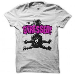 tee shirt du chat stresse  sublimation