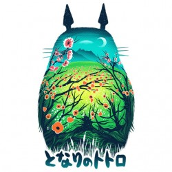 Totoro artistic white...