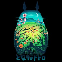 tee shirt Totoro artistique  sublimation