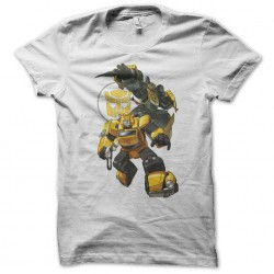 transformers bumblebee white sublimation t-shirt
